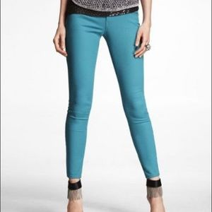 Express NWT Stella Turquoise Jean Leggings Size 2